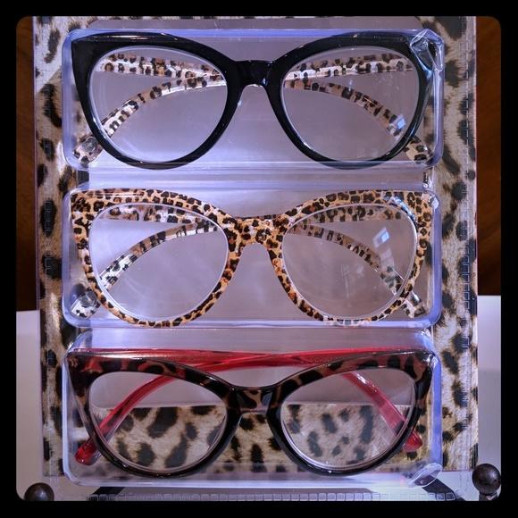 bef689335e Betsey Johnson Accessories - Betsey Johnson 3pk Cat Eye Readers Reading  Glasses